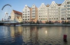 Starzy świrony i ferris koło Gdansk Poland Europe zdjęcia royalty free