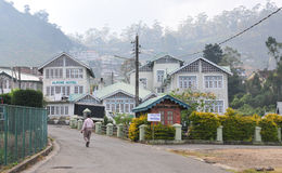 Starzy Angielscy kolonisty stylu domy Obrazy Royalty Free