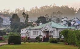 Starzy Angielscy kolonisty stylu domy Zdjęcia Stock