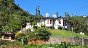 Starzy Angielscy kolonisty stylu domy Obraz Stock