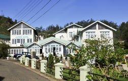Starzy Angielscy kolonisty stylu domy Fotografia Royalty Free