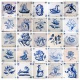 Starzy azulejos, kolaż Fotografia Stock