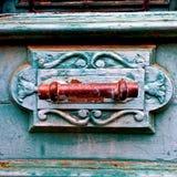 Starzy błękitni drzwi Cypr zdjęcie stock