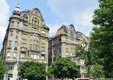 Starzy budynki mieszkaniowi, Budapest Zdjęcia Royalty Free