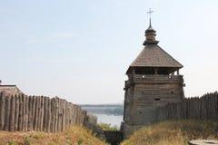 Starzy budynki na wyspie Khortytsya obraz stock