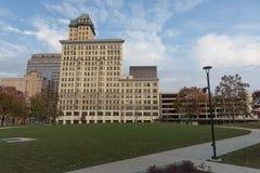 Starzy budynki w W centrum Dayton Ohio obraz royalty free