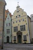 Starzy budynki w Ryskim starym miasteczku - Zdjęcie Royalty Free