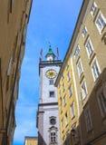 Starzy budynki w Starym Grodzkim Salzburg obraz royalty free