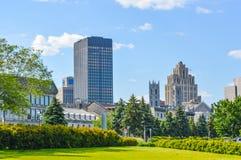 Starzy budynki w starym porcie Montreal obrazy royalty free