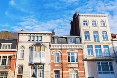 Starzy budynki w zdroju, Belgia Fotografia Stock