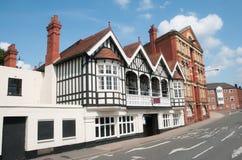 Starzy budynki Worcester Zdjęcie Royalty Free