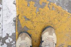 Starzy buty brudzą Obraz Royalty Free