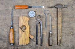 Starzy cieśli narzędzia dla pracować z drewnem Fotografia Stock