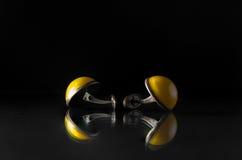 Starzy cufflinks fotografia stock