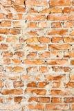 Starzy czerwoni ściana z cegieł tła Zdjęcie Royalty Free