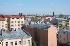 Starzy dachy St Petersburg Rosja Zdjęcia Royalty Free