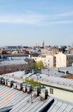 Starzy dachy St Petersburg Rosja Obrazy Stock