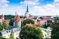 starzy dachy Tallinn Obrazy Royalty Free