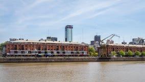 Starzy doki w Puerto madero, Buenos Aires Argentyna obraz royalty free