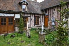 Starzy domy Gerberoy wioska Francja Zdjęcie Royalty Free