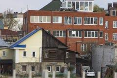 Starzy domy Nizhny Novgorod zdjęcie stock