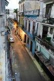 Starzy domy przy sąsiedztwem Habana Vieja w Hawańskim Fotografia Royalty Free