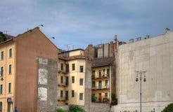 Starzy domy w centrum Budapest obrazy stock