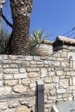 Starzy domy w dziejowym miasteczku Afytos, Kassandra, Chalkidiki, Środkowy Macedonia obrazy royalty free
