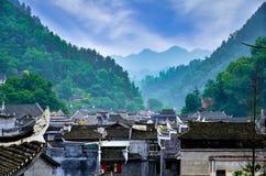 Starzy domy w Fenghuang okręgu administracyjnym w Hunan, Chiny Obrazy Stock