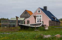 Starzy domy w Iceland zdjęcia royalty free