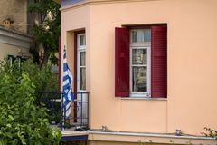 Starzy domy w Plaka, Ateny Fotografia Royalty Free