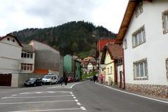 Starzy domy w Schei okręgu Brasov Zdjęcia Stock