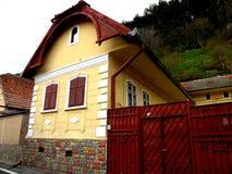 Starzy domy w Schei okręgu Brasov Obrazy Royalty Free