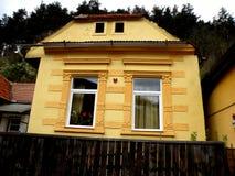 Starzy domy w Schei okręgu Brasov Zdjęcia Royalty Free
