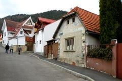 Starzy domy w Schei okręgu Brasov Fotografia Stock