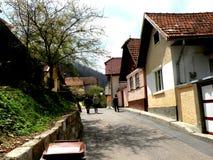 Starzy domy w Schei okręgu Brasov Zdjęcie Royalty Free