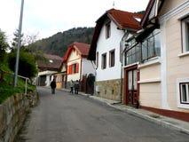Starzy domy w Schei okręgu Brasov Obraz Stock