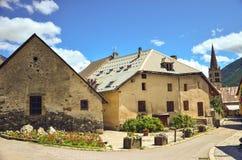 Starzy domy w wiosce w Alps Obraz Stock