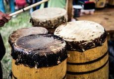 Starzy drewniani bębeny Obrazy Royalty Free