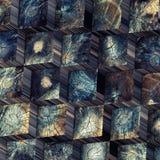 Starzy drewniani bloki Zdjęcie Royalty Free