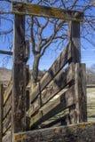 Starzy drewniani bydło zsypowi obrazy stock