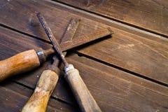 Starzy Drewniani ścinaki Zdjęcie Stock