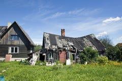 Starzy drewniani domy Obrazy Royalty Free