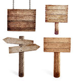 Starzy drewniani drogowi znaki ustawiający odizolowywającymi Fotografia Stock