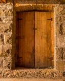 Starzy Drewniani drzwi Obraz Royalty Free