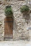 Starzy drewniani drzwi w odpowiednim Obrazy Royalty Free