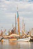 Starzy drewniani holenderscy żeglowanie statki Obraz Royalty Free