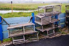 Starzy Drewniani homarów oklepowie Obraz Stock