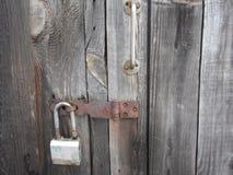 Starzy drzwi blokują Fotografia Royalty Free
