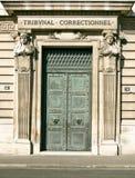 Starzy drzwi w Paryż Zdjęcia Stock